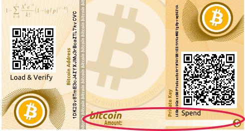 Bitcoin amount