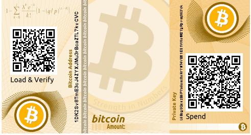 Portfel papierowy Bitcoin